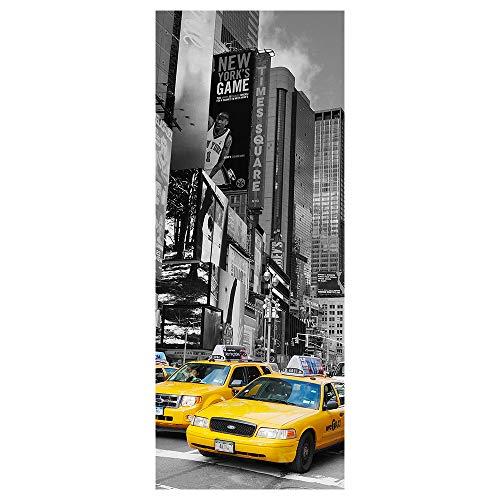 Ambiance Adhesivo de la Puerta Taxi de Nueva York Pelar y Pegar - 204 x 83cm
