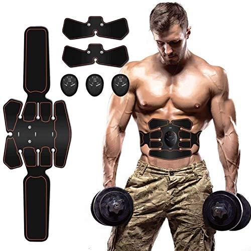 ZHENROG EMS Trainingsgerät Muskelstimulation Elektrostimulation Muskeltrainer Bauchtrainer Muskelstimulator Bauch Massagegerät Muskelaufbau und Fettverbrennungn Home Fitness Machine