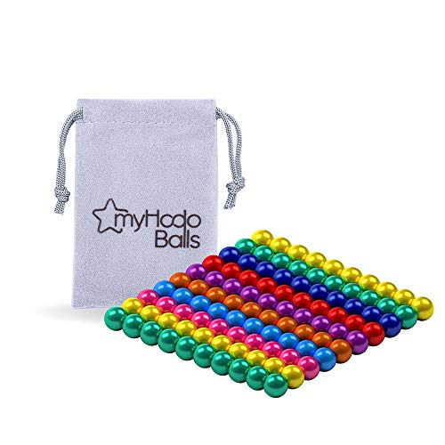 myHodo Bolitas Magnéticas de Colores (100 Magneto), Bolas Magnéticas, Idea de Regalo Antiestrés, Bolas de Iman, Magnetic Balls, Imanes Pequeños para aliviar el Estrés (Colorido)
