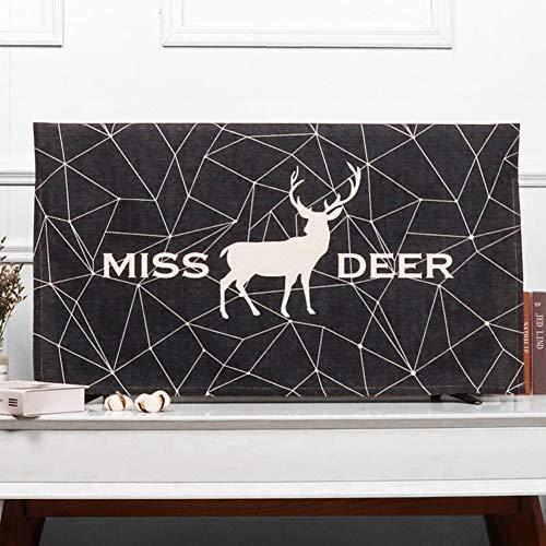 FEIYUGN Equipo Protector contra el Polvo Cubierta del Monitor LCD TV del Arte del paño FEIYU (Color : Black Deer, Size : 50 Inches)