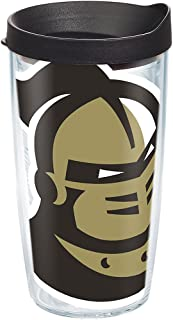 Tervis 1283408 UCF Knights Mascot Colossal Tumbler with Wrap and Black Lid 16oz, Clear