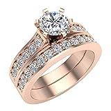 Glitz Design Mujer Niños Hombre Unisex oro 14 quilates (585) oro rosa round-brilliant-shape J-K Diamond