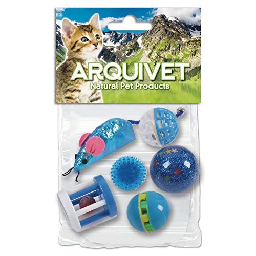 Arquivet 8435117841291 - Kit 6 Juguetes para Gatos Azul