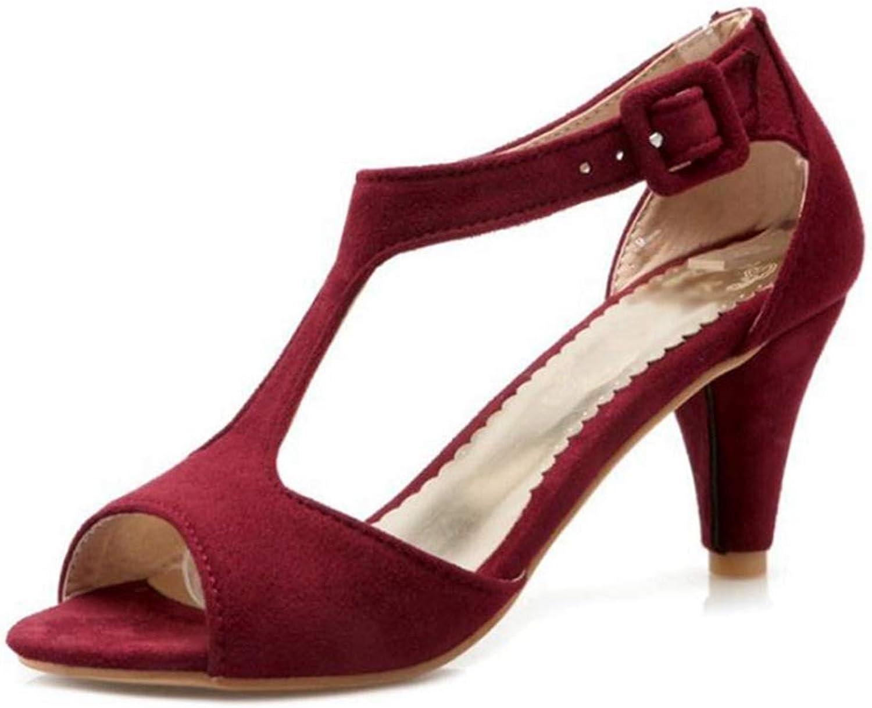 Ladies Party Sandals High Heels Dress shoes Women Summer Peep Toe T-Strap Wedding Sandal