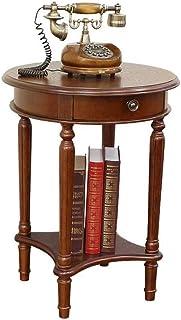 WZHZJ Séjour Petit Appartement Simple Table Ronde Moderne Canapé d'angle côté Cabinet Round Side Plusieurs Casual Table Basse