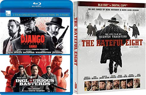 Quentin Quentin BLU-RAY 3 Feature Films: Inglourious Bastards/ Django Unchained & The Hateful Eight Triple Feature Bundle