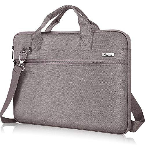 Voova Laptop Sleeve Bag 17-17.3 Inch Carry Case,360° Protective Computer Bag Compatible with Razer Blade Pro 17,Lenovo Asus Acer Dell Hp Notebook with Shoulder Strap for Men Women,Waterproof,Khaki Ash