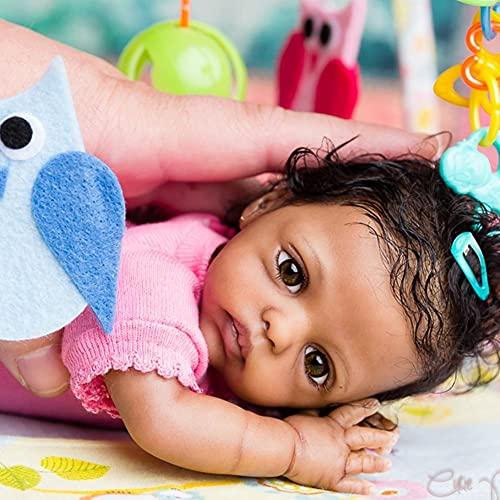JinYiZhaoMing Reborn Dolls Kit,10 pulgadas, 200 g realista recién nacido, muñeca de bebé enraizada, ropa suave de vinilo de silicona para recién nacido