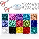 SGDD 3500 Cuentas de Colores 4mm Mini Cuentas y Abalorios Cristal para DIY Pulseras...