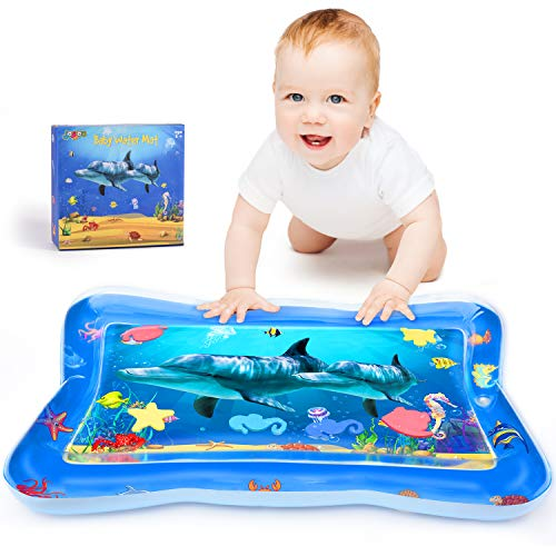 Find Discount Joyjoz Tummy Time Baby Water Mat, Infant Toy Inflatable Play Mat, Fun Play Activity Ce...