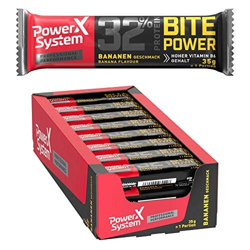 Power System Protein Bar 'Bite Power', Proteinriegel (24 x 35 g)(Banane)