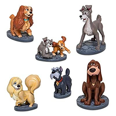 Disney Lady and The Tramp Figurine Play Set