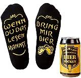Top-Geschenk24.de Bier Socken Herren, Bier Geschenk für Männer, Weihnachtsgeschenk, lustige Socken m. Wenn Du das Lesen Kannst bring mir Bier,...