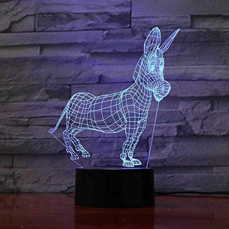 Mozhate USB ndern 3D led wohnkultur Beleuchtung Tier Esel modellierung nachtlicht babystimmung Touch Taste Kinder Schlafzimmer schreibtischlampe für Geschenk,Remote und berühren