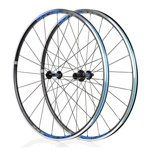 TYXTYX Ejes de liberación rápida Accesorio para Bicicleta Juego de Ruedas para Bicicleta de Carretera 700C Ruedas de Bicicleta con Freno en V 622 / 17c Llanta de aleación de Doble Pared Cubo de Rod
