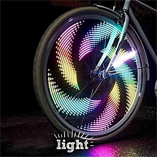 Luci a LED per biciclette 3D, luci per ruote per biciclette impermeabili, luci per cerchioni per bici, luci per spinning per bici a LED con 32 LED e 32 pezzi Modifiche per pneumatici per ruote MTB