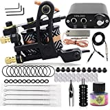 Tattoo Machine Kit, CINRA Professional Tattoo Kit Tattoo Coils Machine Gun Kit Tattoo Ink with Tattoo Power Supply Foot Pedal Needles for Lining Shading Permanent Makeup Tattoo Machine SuppIies