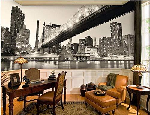 Mural de papel pintado Puente de la ciudad de noche Fotomurales murales pared papel para pared foto 3D mural pared Salón Dormitorio decoración de paredes moderna 150X105 cm
