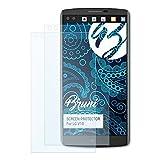 Bruni Schutzfolie kompatibel mit LG V10 Folie, glasklare Bildschirmschutzfolie (2X)