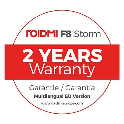 Roidmi F8 Storm - Aspiradora sin cable con App, versión EU en Español, 115W, 100.000 RPM, batería hasta 55 mins., depósito 0.4L, color blanco