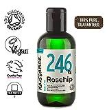 Naissance Wildrosenöl BIO/Hagebuttenkernöl BIO (Nr. 246) 100ml – kaltgepresst, rein und natürlich, vegan