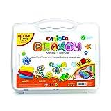 Carioca MALETÍN PLASTY XL - 43268 - Kit Plastilina con Formas para Niños a Partir de +3, Colores Surtidos