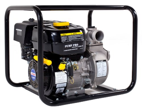 Lifan Pump Pro LF2WP-CA 2-Inch Commercial Centrifugal Water Pump with 6.5 HP 196cc 4-Stroke OHV Industrial Grade Gas Engine with Recoil Start (CARB Certified)
