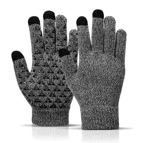Sitthyw Handschuh Warmes rutschfeste Gloves Touchscreen Strick Warme und Winddichte Gloves für Sport Elastische Manschetten Vollfingerhandschuhe Winter Handschuhe für Damen und Herren
