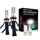 LED Headlight Bulbs Conversion Kit - 4WDKING H11/H8/H9 Copper Braid Heat Dissipation Super