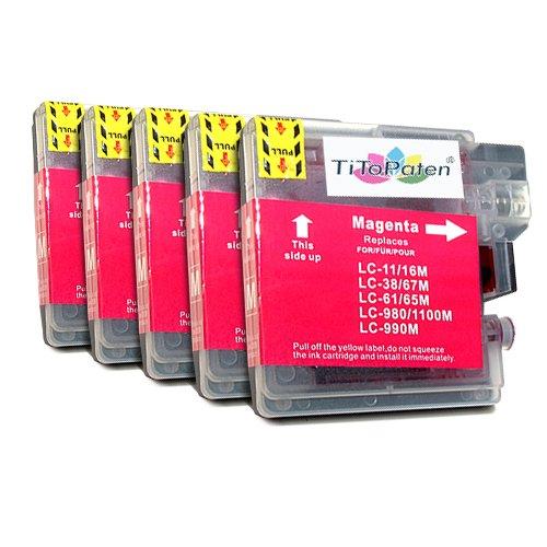 5X Brother DCP 195 C Premium XL Druckerpatronen in Magenta. Sehr Gute Laufleistung und Preiswert!