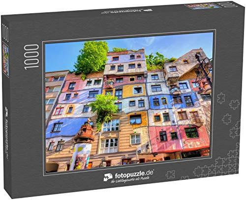 Puzzle 1000 Teile Hundertwasser-Haus in Wien, Österreich - Klassische Puzzle mit edler Motiv-Schachtel, Fotopuzzle-Kollektion 'Österreich'
