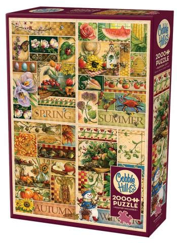 Cobble Hill 2000 Piece Puzzle - The Four Seasons - Sample Poster Included