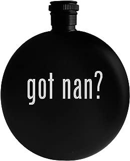 got nan? - 5oz Round Alcohol Drinking Flask, Black