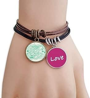 Sea Wave Fish Shark Love Bracelet Leather Rope Wristband Couple Set