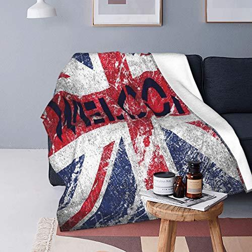 Felpa Manta de Tiro para Todas Las Estaciones Suave Ligero Calentar,Gran Bretaña,Bandera Nacional de Inglaterra,Cómodo Manta de Cama Edredón de Viaje para Sofá Cama,50' X 60'