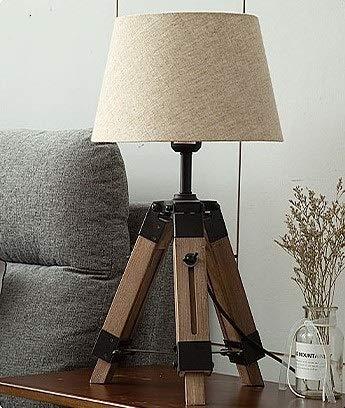 IREANJ Lámpara de pie de Lámparas de piso nórdicas Lámpara de tela de madera Trípode Lámpara de pie Compatible con mesa de estar moderna Dormitorio Decoración para el hogar Lámparas de iluminación