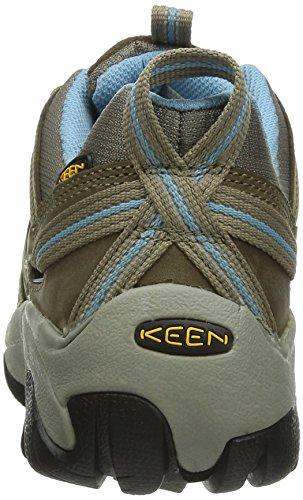 KEEN Women's Voyageur Hiking Shoe, Brindle/Alaskan Blue, 9.5 M US
