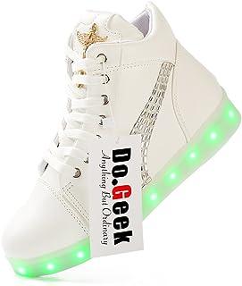DoGeek Light Up Shoes Luminous Fashion Sneaker USB Charging Women Men Trainers 7 Colors Led Flashing Rechargeable Sneaker