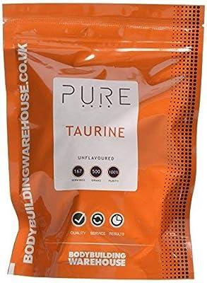 Bodybuilding Warehouse Pure Taurine Powder/Unflavoured (500g)