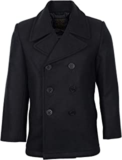Mil-Tec Us Navy Pea Coat Tuch, Giacca Uomo