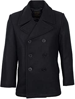 Mil-Tec Men`s US Navy Pea Coat Black size M