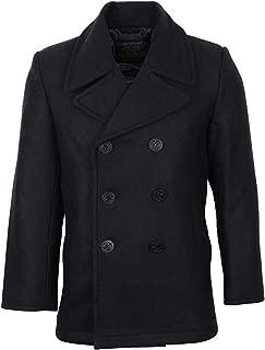 Mil-Tec Men's US Navy Pea Coat Black