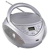 HANNLOMAX HX-326CD Portable CD/MP3 Boombox, AM/FM Radio, USB Port for MP3 Playback, Aux-in