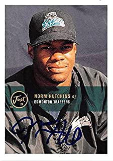 Norm Hutchins autographed baseball card (Edmonton Trappers) 2000 Just Minor league #140 - Hockey Slabbed Autographed Rookie Cards