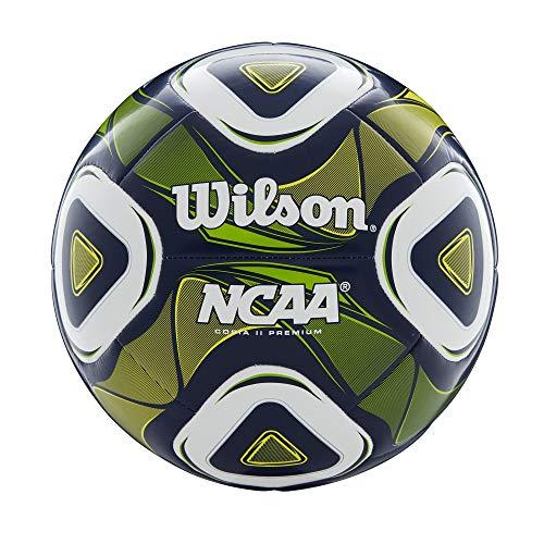 Wilson NCAA Premium - Pallone da calcio, unisex, taglia 5, colore: blu navy/verde