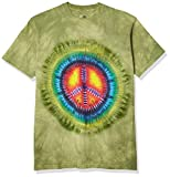 The Mountain Peace Tie Dye Adult T-Shirt, Green, Medium