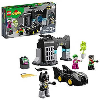 LEGO DUPLO Batman Batcave 10919 Action Figure Toy for Toddlers  with Batman Robin The Joker and The Batmobile  Great Gift for Super Hero Kids Who Love Imaginative Play New 2020  33 Pieces