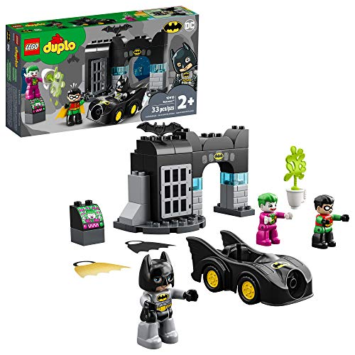 LEGO DUPLO Batman Batcave 10919 Action Figure Toy for Toddlers; with Batman, Robin, The Joker and The Batmobile; Great Gift...