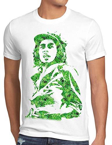 style3 Cannabis Marley Camiseta para Hombre T-Shirt Bob Rasta música Jamaica cáñamo Reggae, Talla:4XL