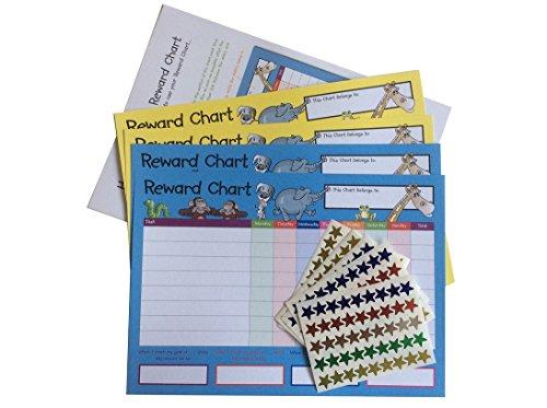 House of Card & Paper Beloningstabel, 4 Grafieken en 225 Folie Stervormige Stickers per pak (TWIN PACK)